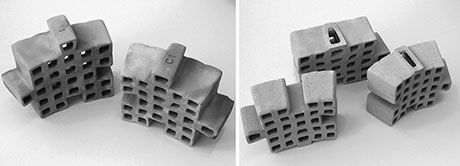 3-D printed architectural bricks