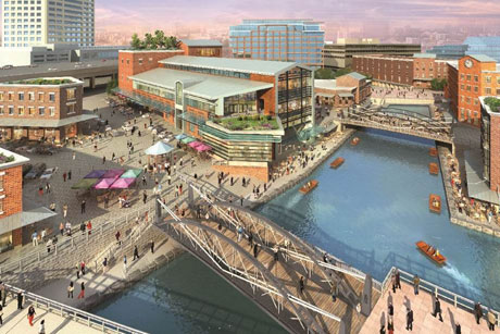 Canalside development rendering
