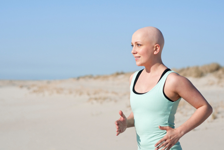 cancer survivor running