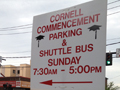 Cornell commencement parking sign