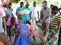 Compost demonstration in Dedza region