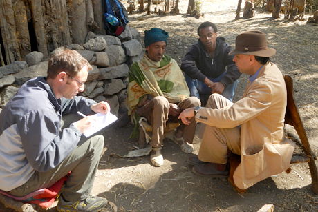 Ethiopian farmer interviewed