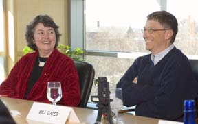 Geri Gay and Bill Gates