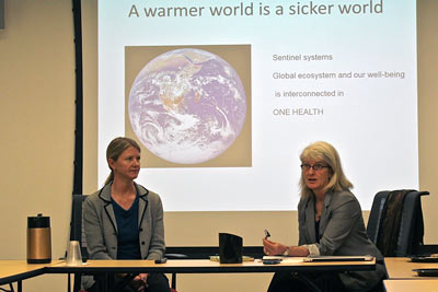 professors discuss climate change and disease