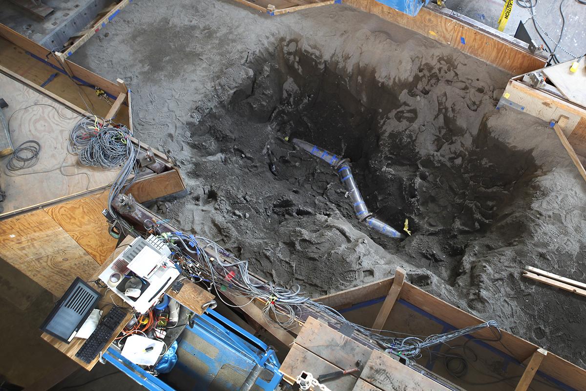 Earthquake test excavated