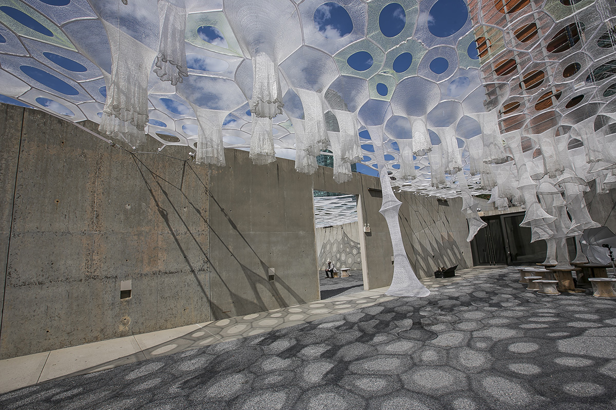 Glowing and misting, Jenny Sabin\'s \'Lumen\' installation opens ...