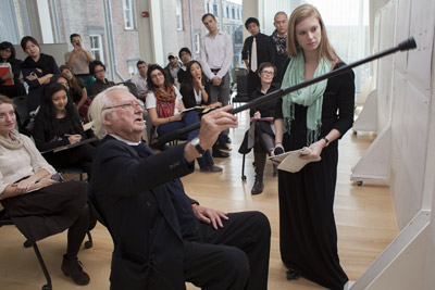 Richard Meier in class