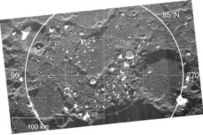 cold traps at the lunar north pole