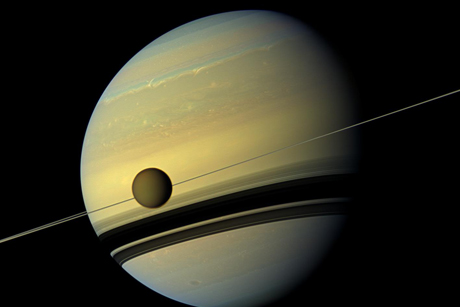 Saturn and moon