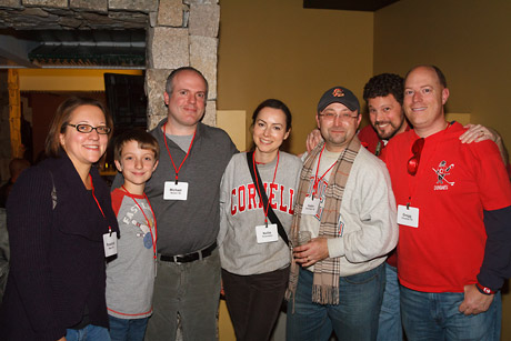 alumni at Red Hot Hockey party