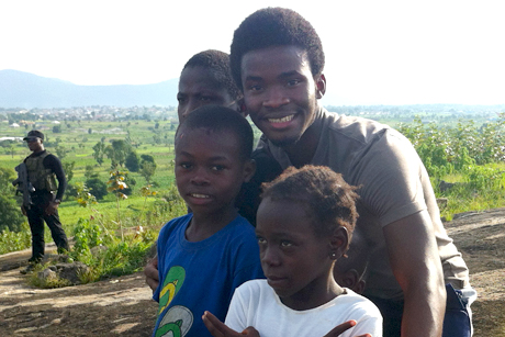 Kelechi Umoga with children