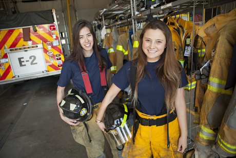student firefighters