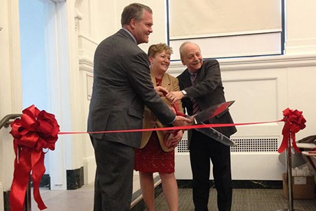 Warren Hall ribbon cutting