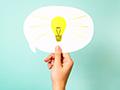 Cardboard idea bulb