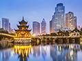 China city at night