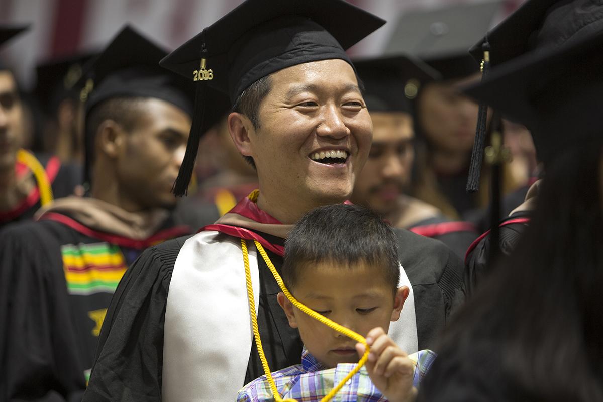 Fan Li at MBA graduation