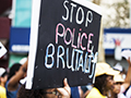 Police brutality sign
