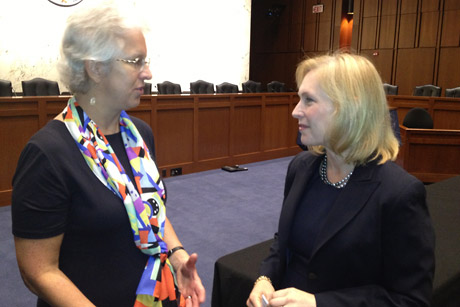 Barb Knuth and Kirsten Gillibrand