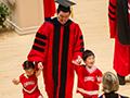 Weill graduates with kids