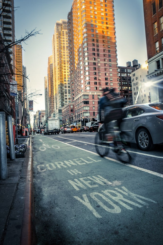 NYC bike lane