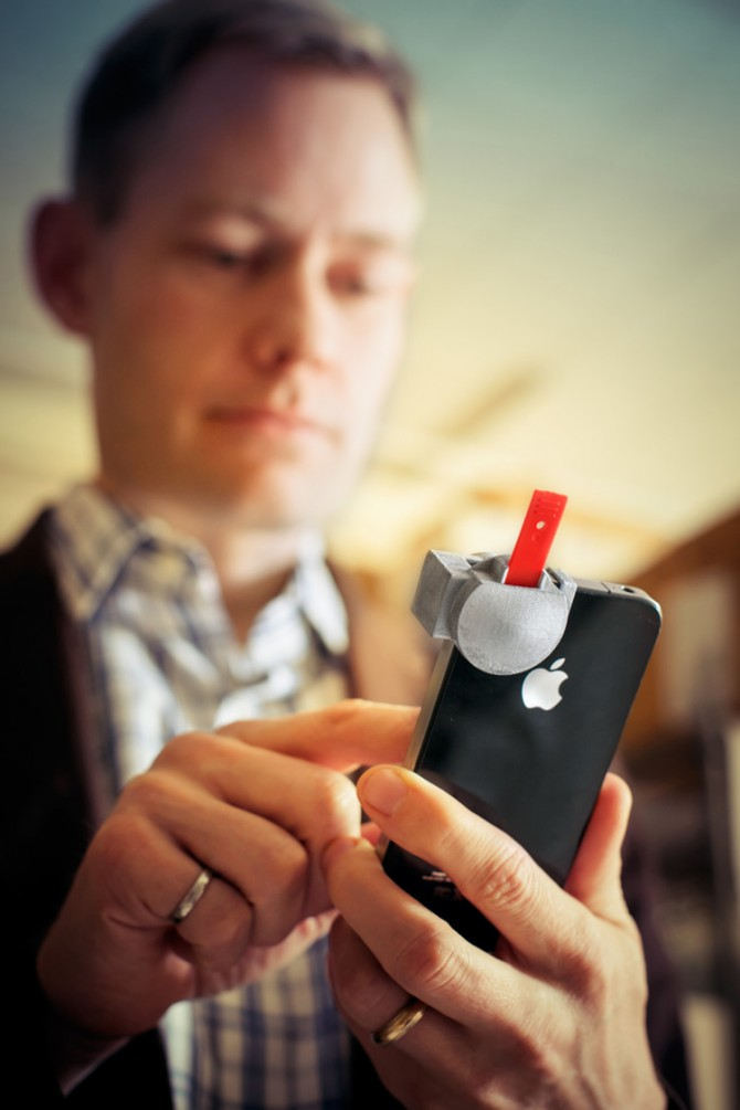 Erickson with phone