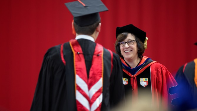 Pollack at December commencement