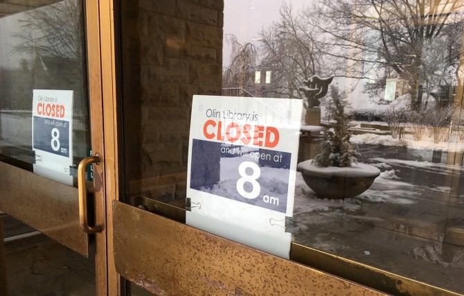 Olin Library closed