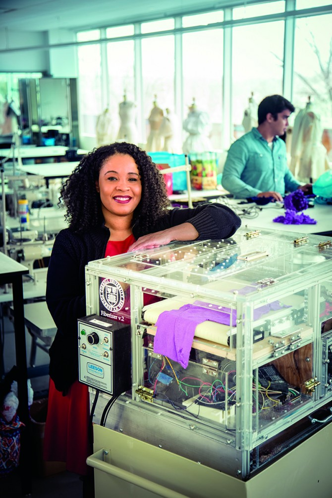 Tasha Lewis, assistant professor of fiber science and apparel design