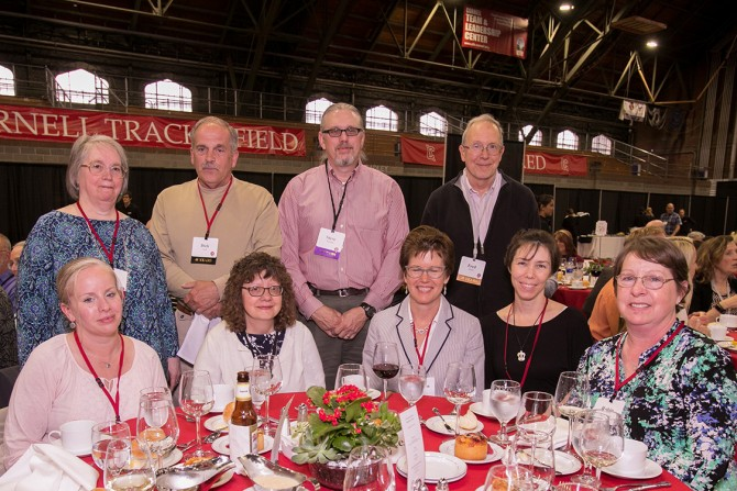 Staff members from the College of Arts and Sciences and guests celebrate at the 63rd Service Recognition Dinner June 5.
