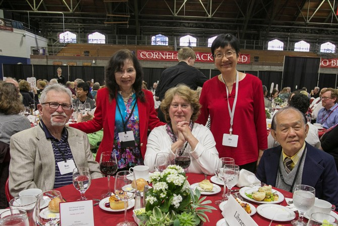 Staff members from Cornell University Library and guests celebrate at the 63rd Service Recognition Dinner June 5.