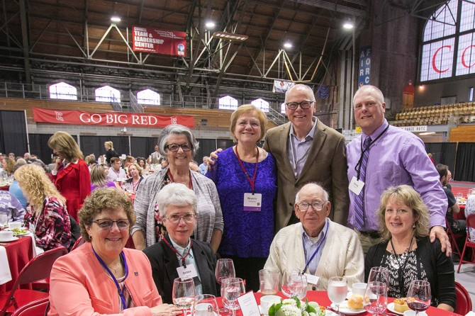 Staff members from the College of Agriculture and Life Sciences and guests celebrate at the 63rd Service Recognition Dinner June 5.