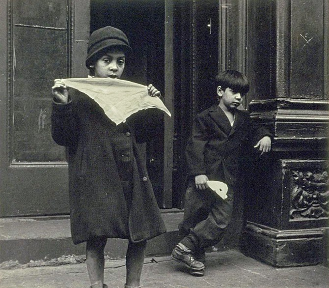 """Two Boys,"" gelation silver print by Helen Levitt"
