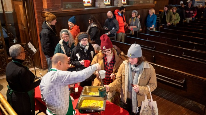 More than 160 attended Soup and Hope at Sage Chapel, Jan. 17, 2019