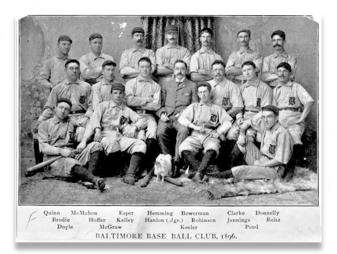Jennings with the champion 1896 Baltimore Orioles