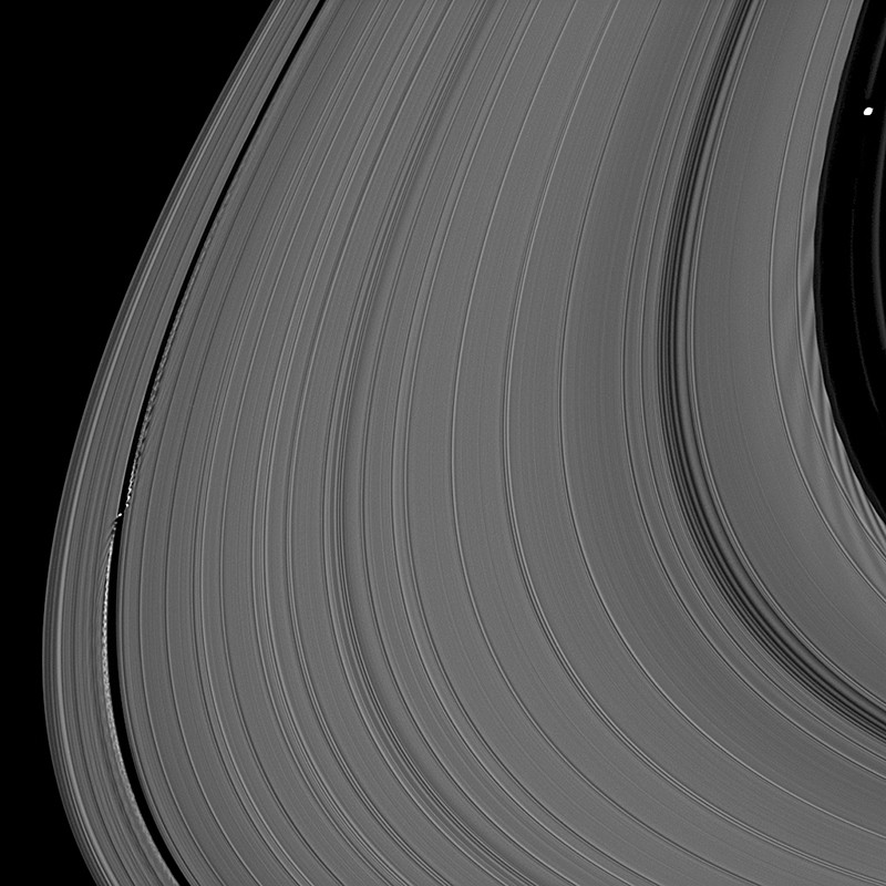 Moons work together to hold Saturn's largest ring in place