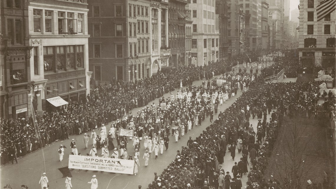 suffrage march in nyc
