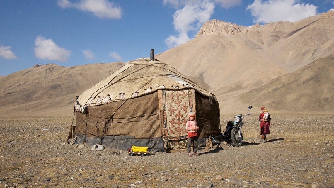 Martin Gilbert/Provided Livestock herders are pictured in Burgut Conservancy, Alichur, in eastern Tajikistan.