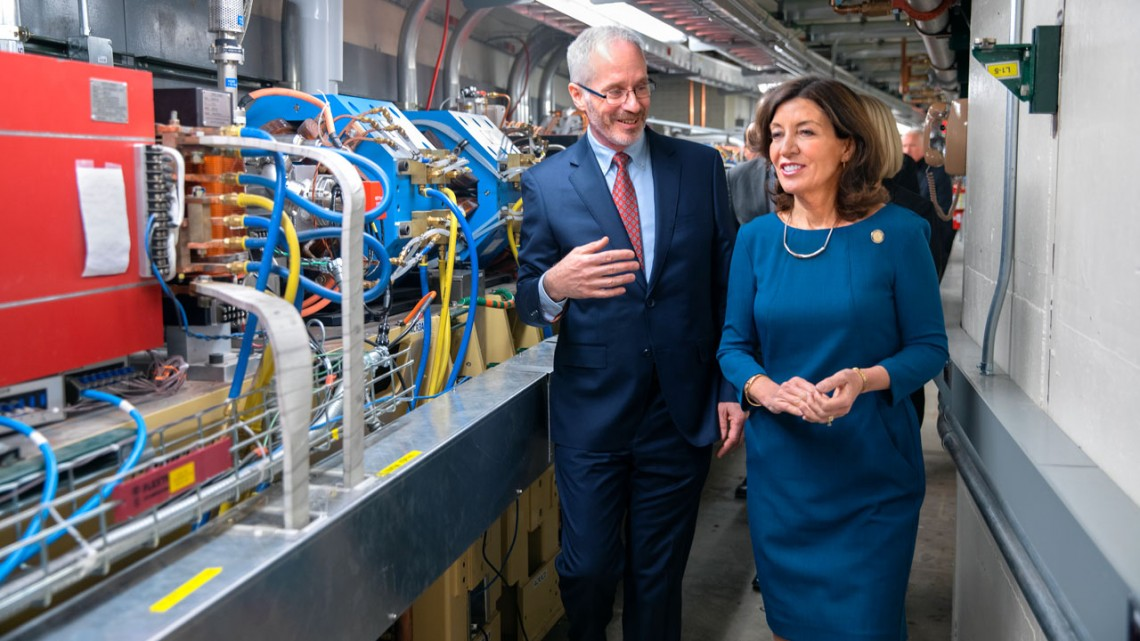 Kathy Hochul and Joel Brock