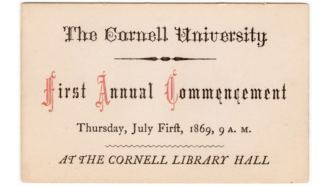 First commencement ticket