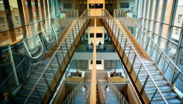 Business building foyer