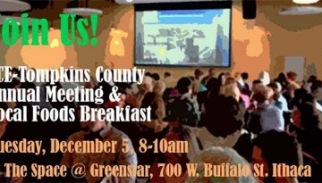 CCE-Tompkins County poster for annual meeting and breakfast
