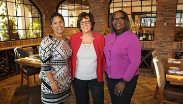 Presidents Shirley Collado (IC), Martha Pollack (CU), and Orinthia Montague (TC3).