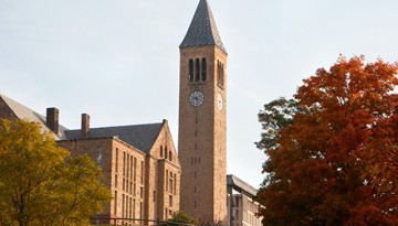 McGraw Tower and campus view