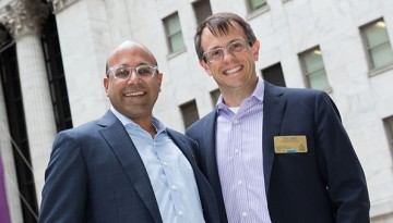 Wayfair founders Niraj Shah and Steve Conine