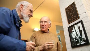 Professors emeriti Neil Hertz and Roald Hoffmann