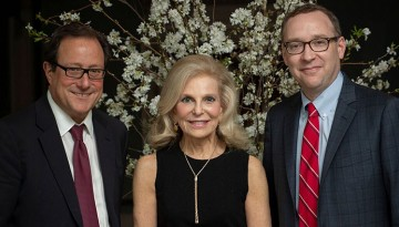Glenn August, Joan Parker and ILR Dean Kevin Hallock