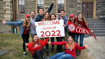 Current Cornell students welcome those admitted into the Class of 2022