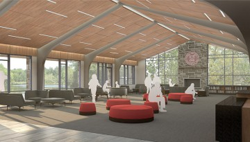 rendering of Tang Welcome Center