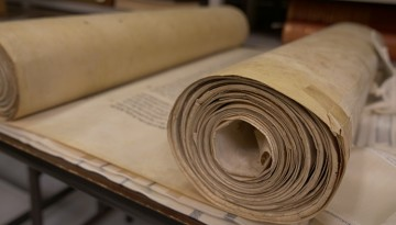 Torah scroll from collection of Jewish books containing fables
