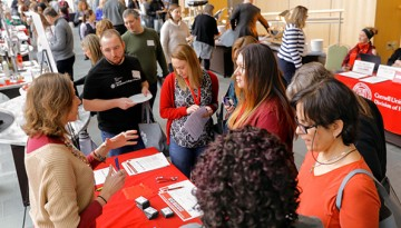 Staff gather information on Cornell benefits